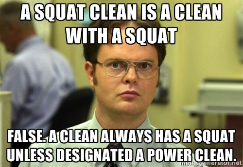 Image result for crossfit meme heavy squat cleans